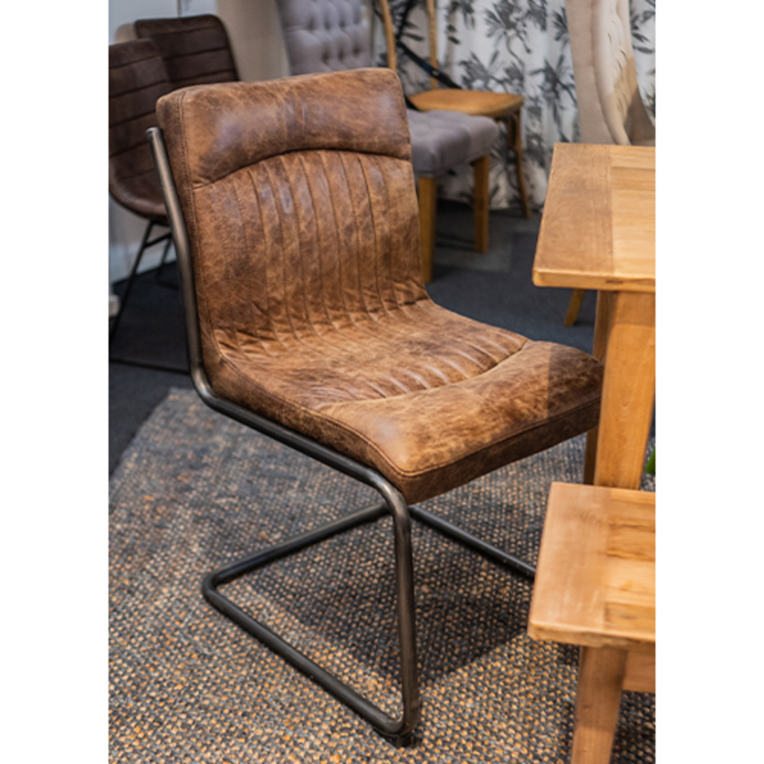 Pistoria Leather Dining Chair image 4