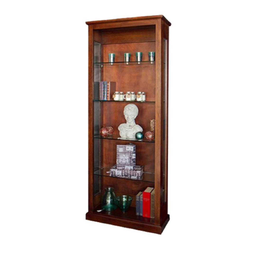 NZ Made Solid Oak Display Cabinet image 0