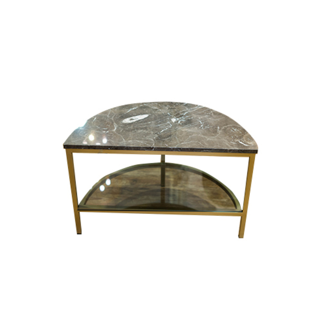 Parkville Arch Brown Marble Table image 4