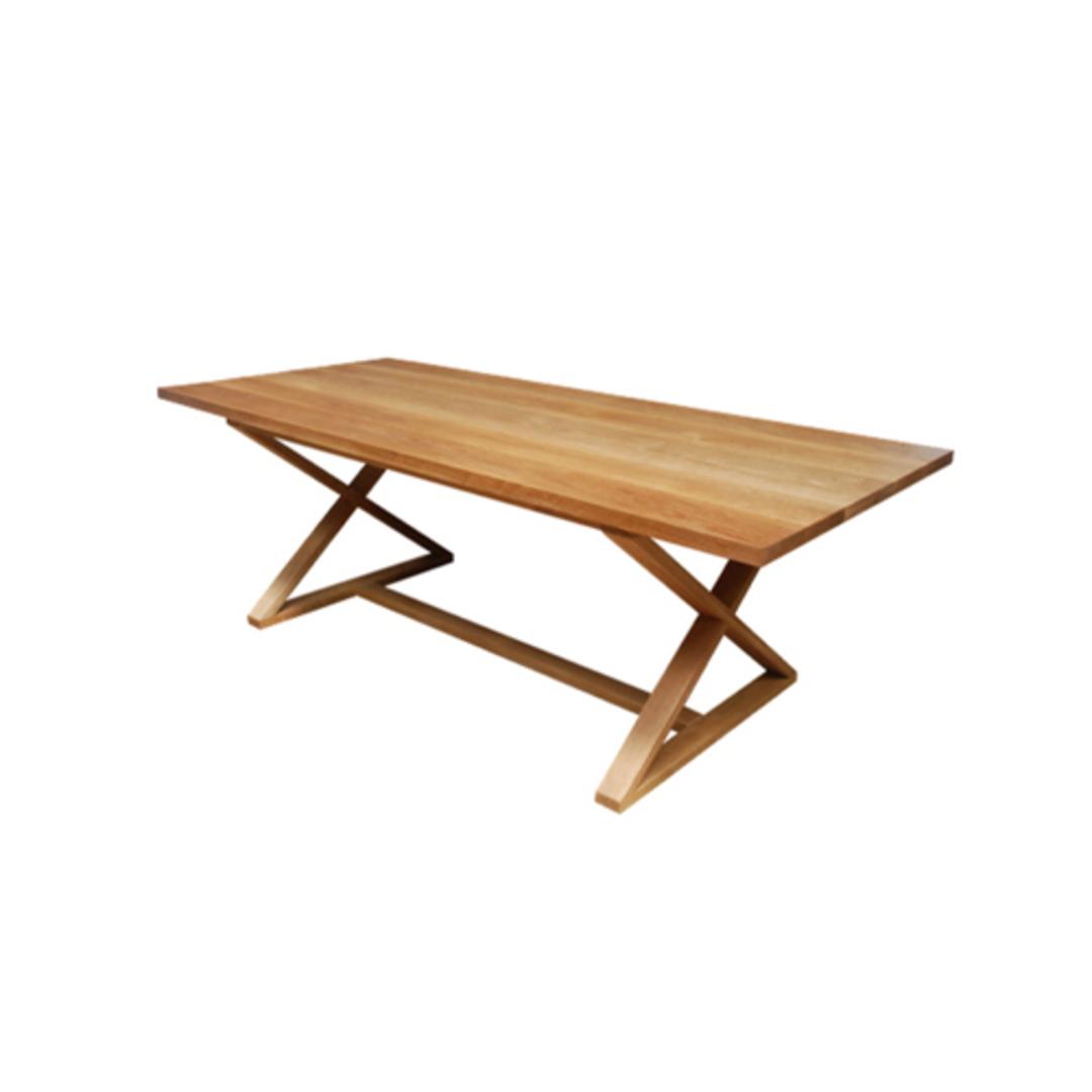 Oakleigh X-Leg Oak Table 2M image 0