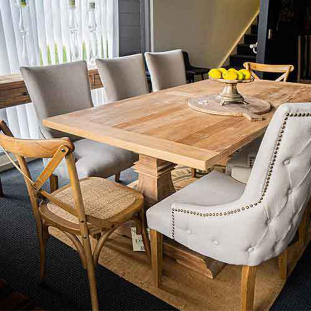 Recycled Elm Victoria Dining Table 2M image 3
