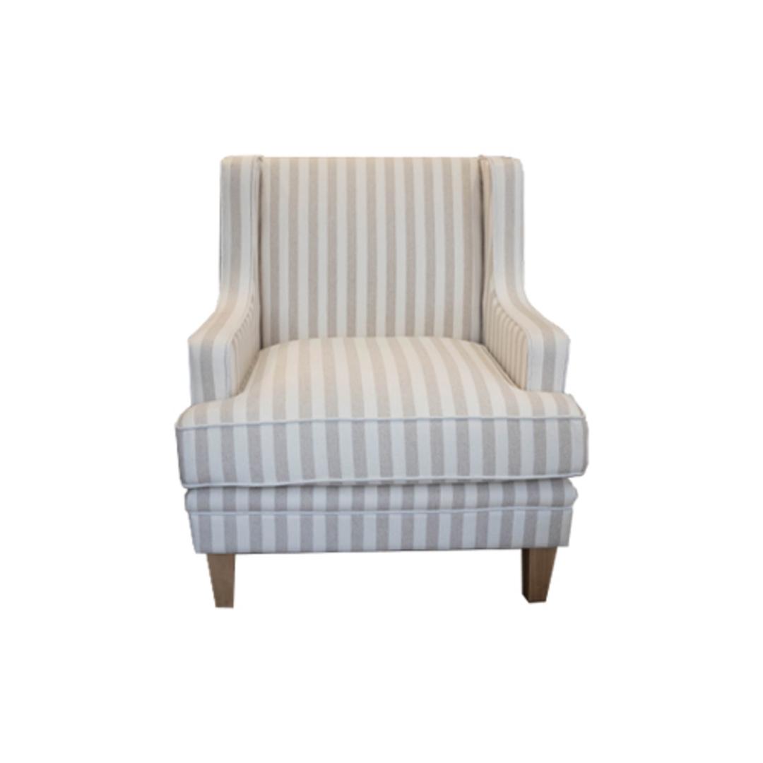 Georgia Arm chair Natural Stripe image 4