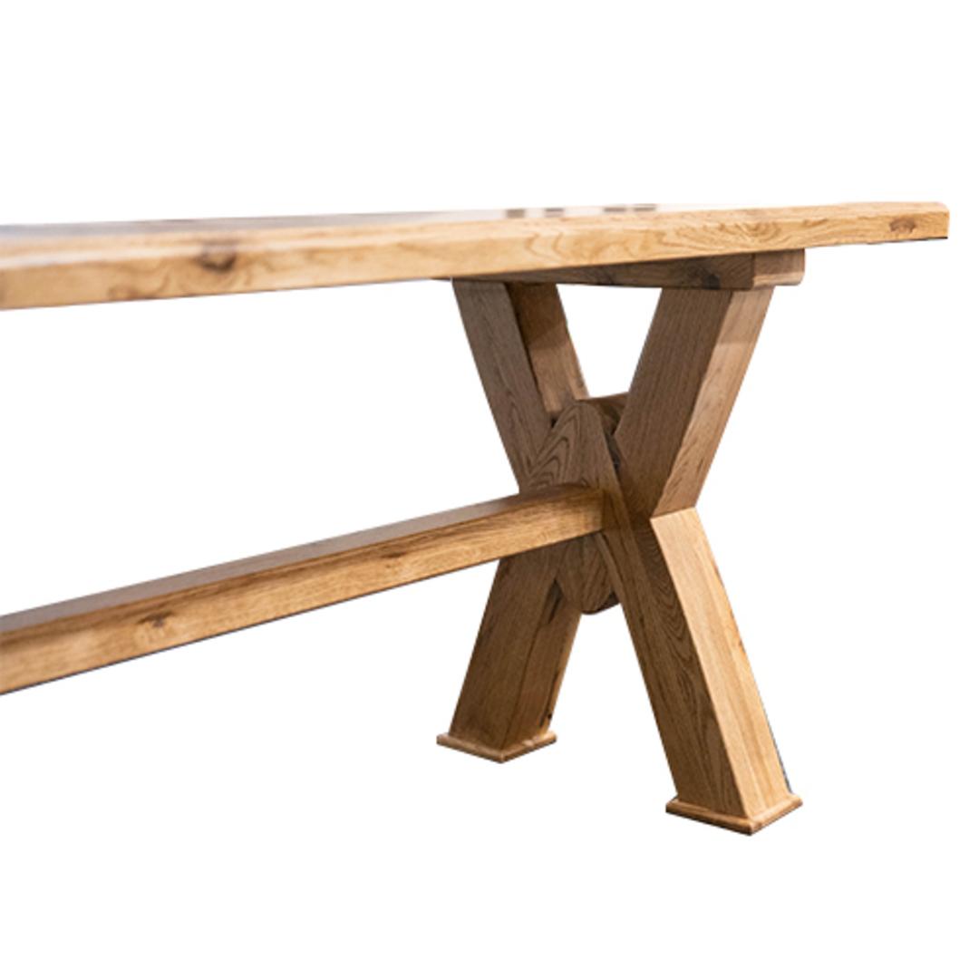 Antique Light Oak Bench Seat 2M image 4