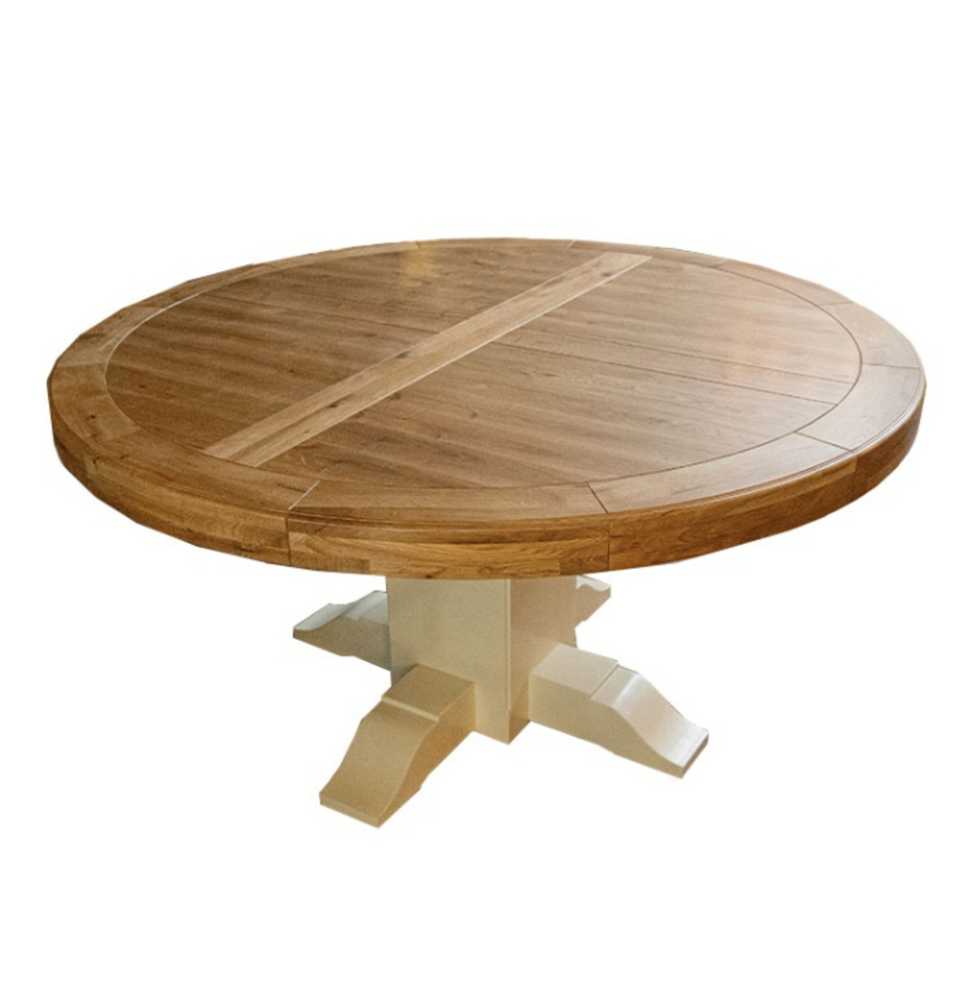 Oak Round Table With Pedestal Base image 1