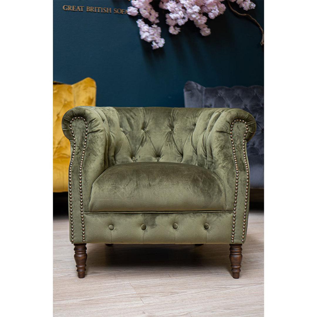Jude Chair Plush Velvet Green image 4