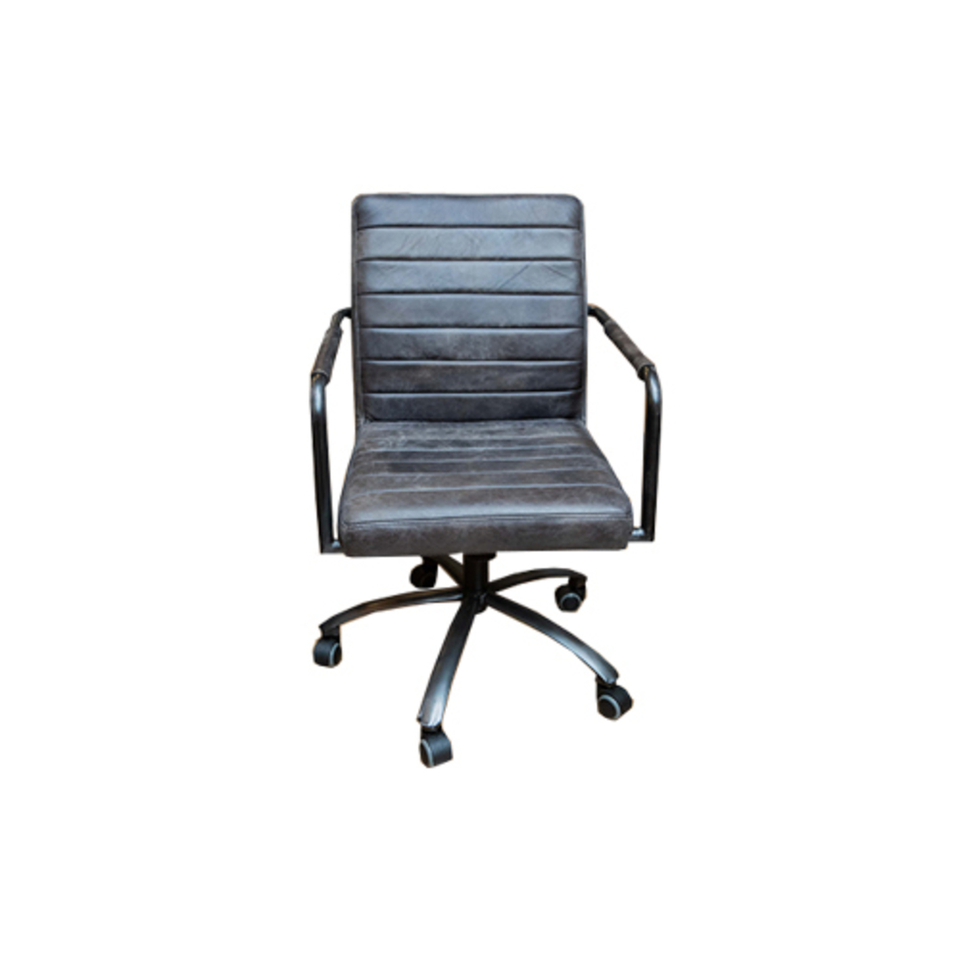 Barcelona Leather Desk Chair image 2