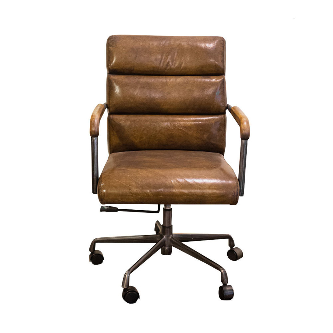 Hagley Vintage Leather Office Chair image 1