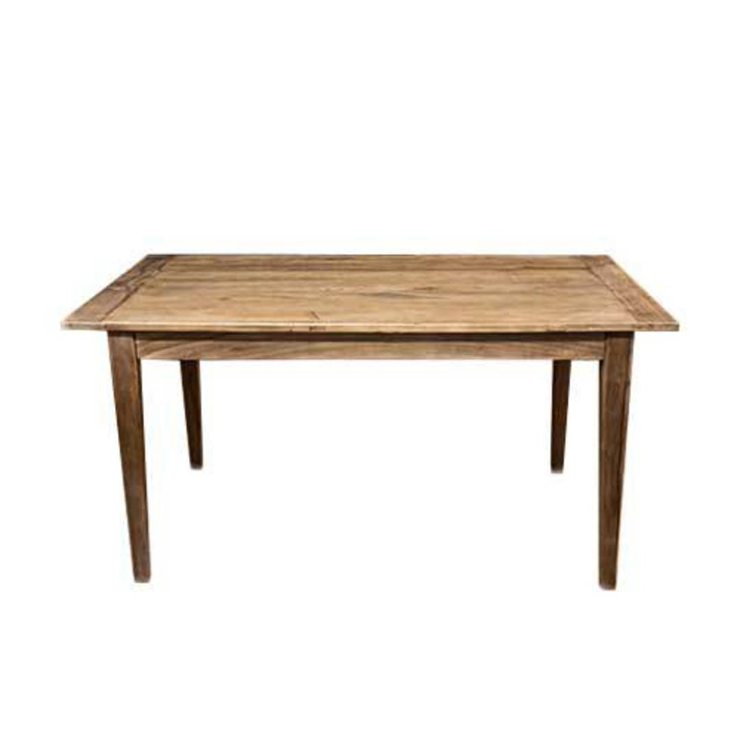 French Dining Table Reclaimed Elm 1.5M image 6
