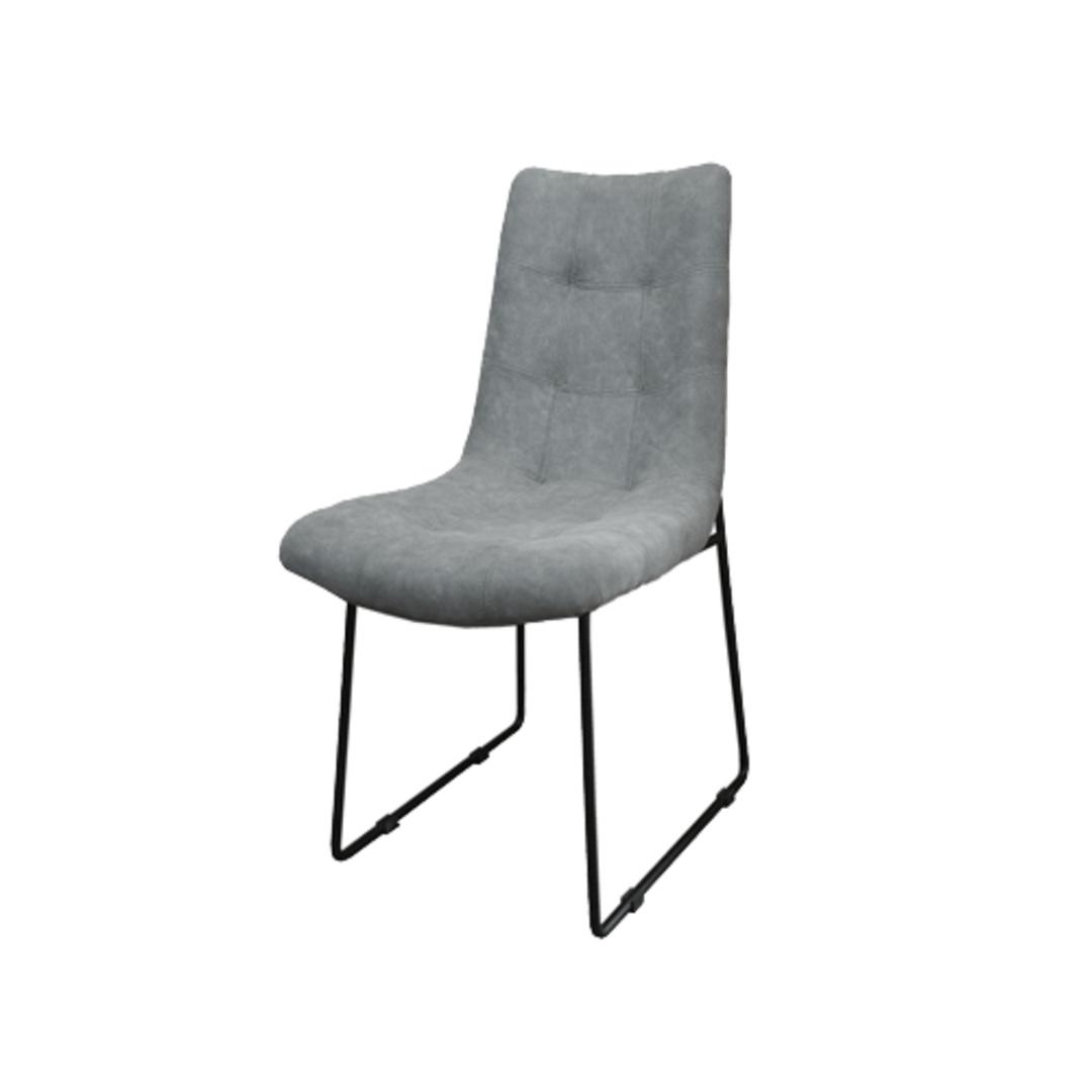 Roma Dining Chair Fabric Grey image 0