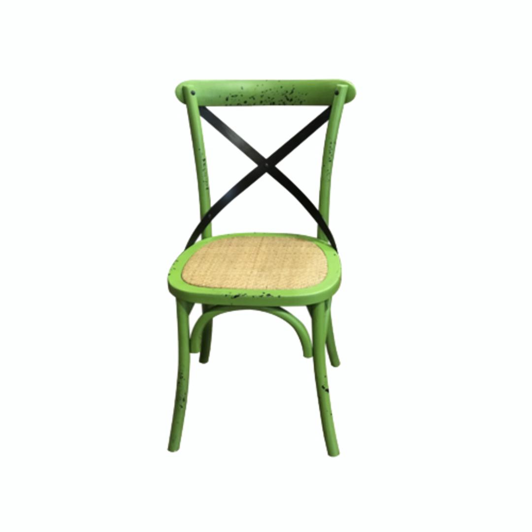 Mantis Antique Green Cross Chair image 0