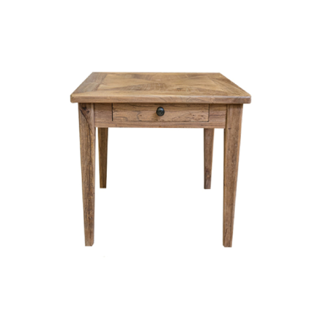 Recycled Elm 1 Drawer Side Table image 0