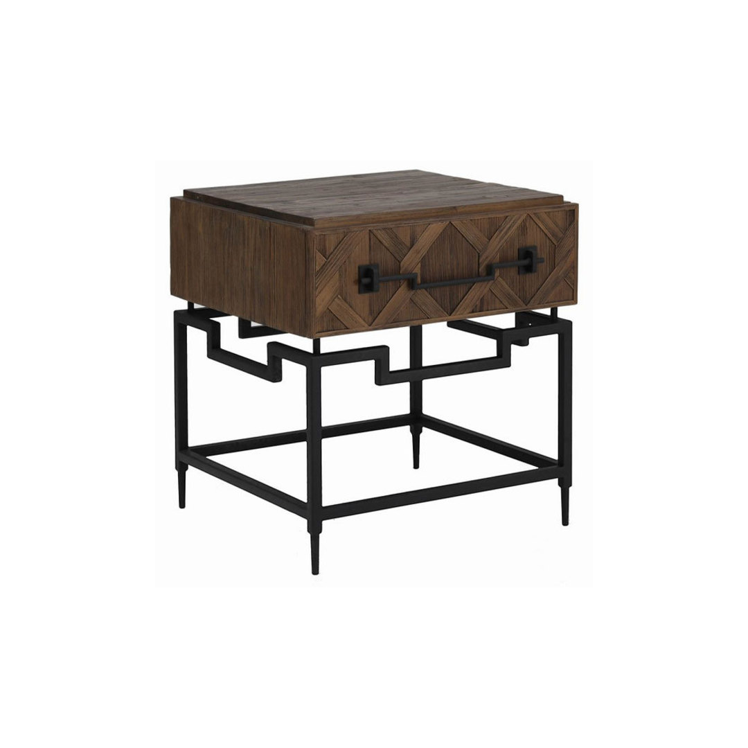 Reclaimed Fir 1 Draw Side Table image 0