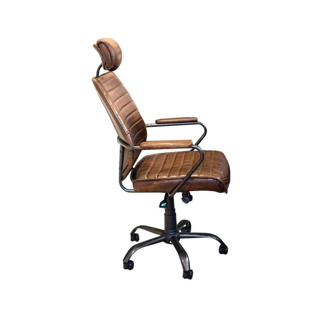 Birmingham Vintage Leather Study Chair image 1