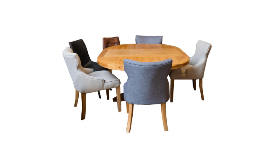 Oak Round Extension Table image 7