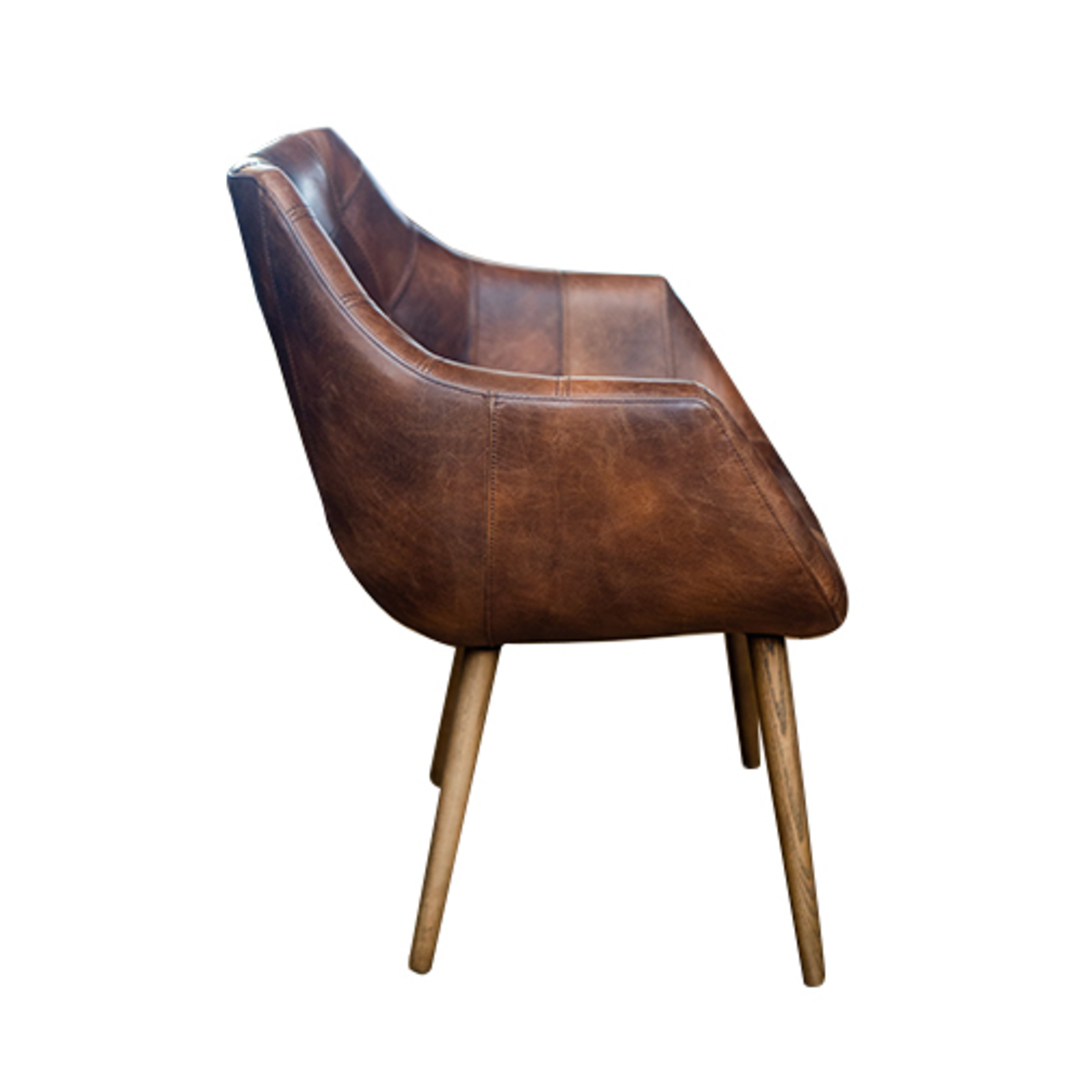 Eden Chair-Brown Leather image 1