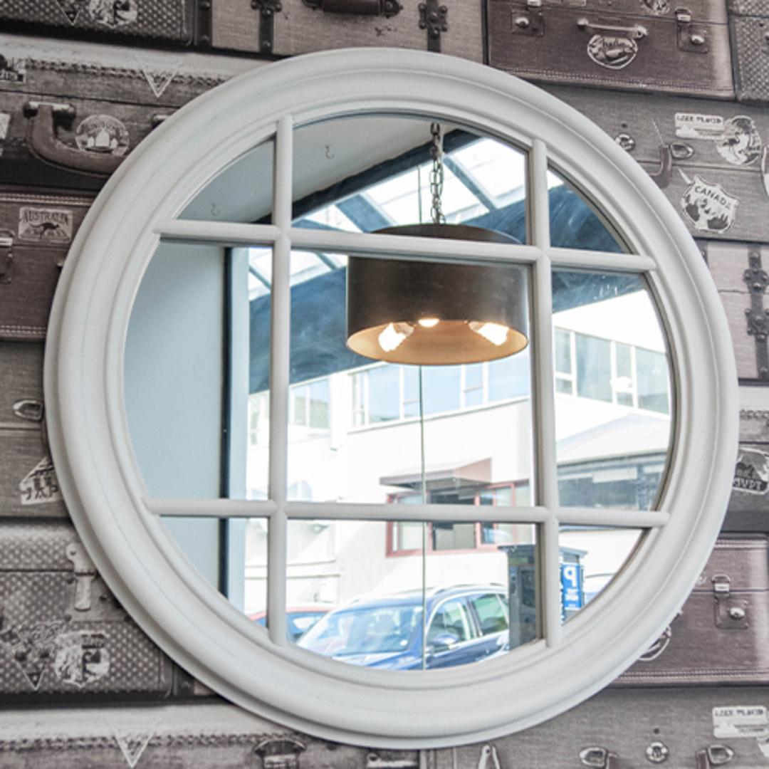 Panel Mirror Round White 70cm image 1