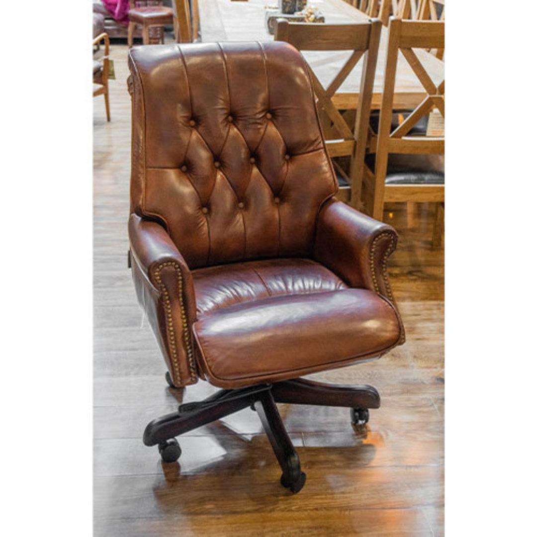 Harrison Height Adjustable Chair - Vintage Cigar Brown image 2