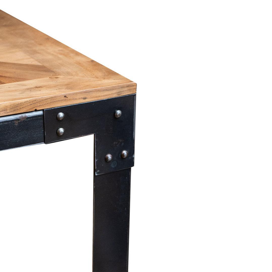 Elm Dining Table Iron Legs 1.6M image 4