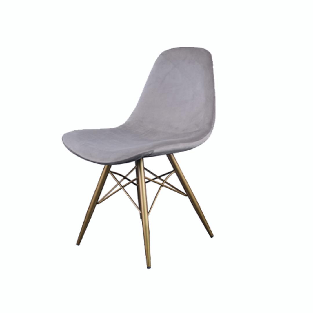 Naples Dining Chair Grey Velvet image 0