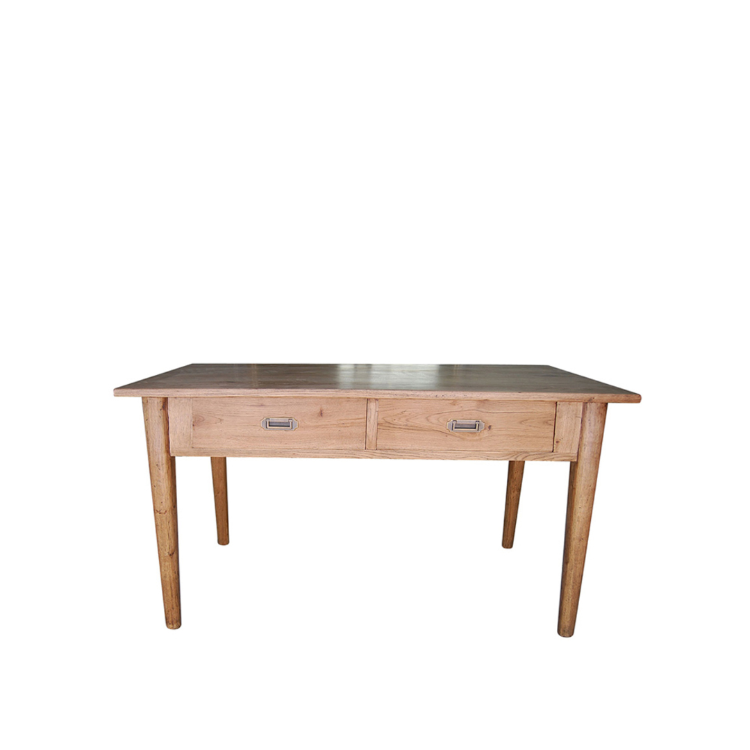 American Oak 2 Drawer Desk image 0