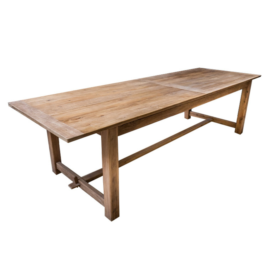 Recycled Elm Farmhouse Dining Table 2.1M image 3