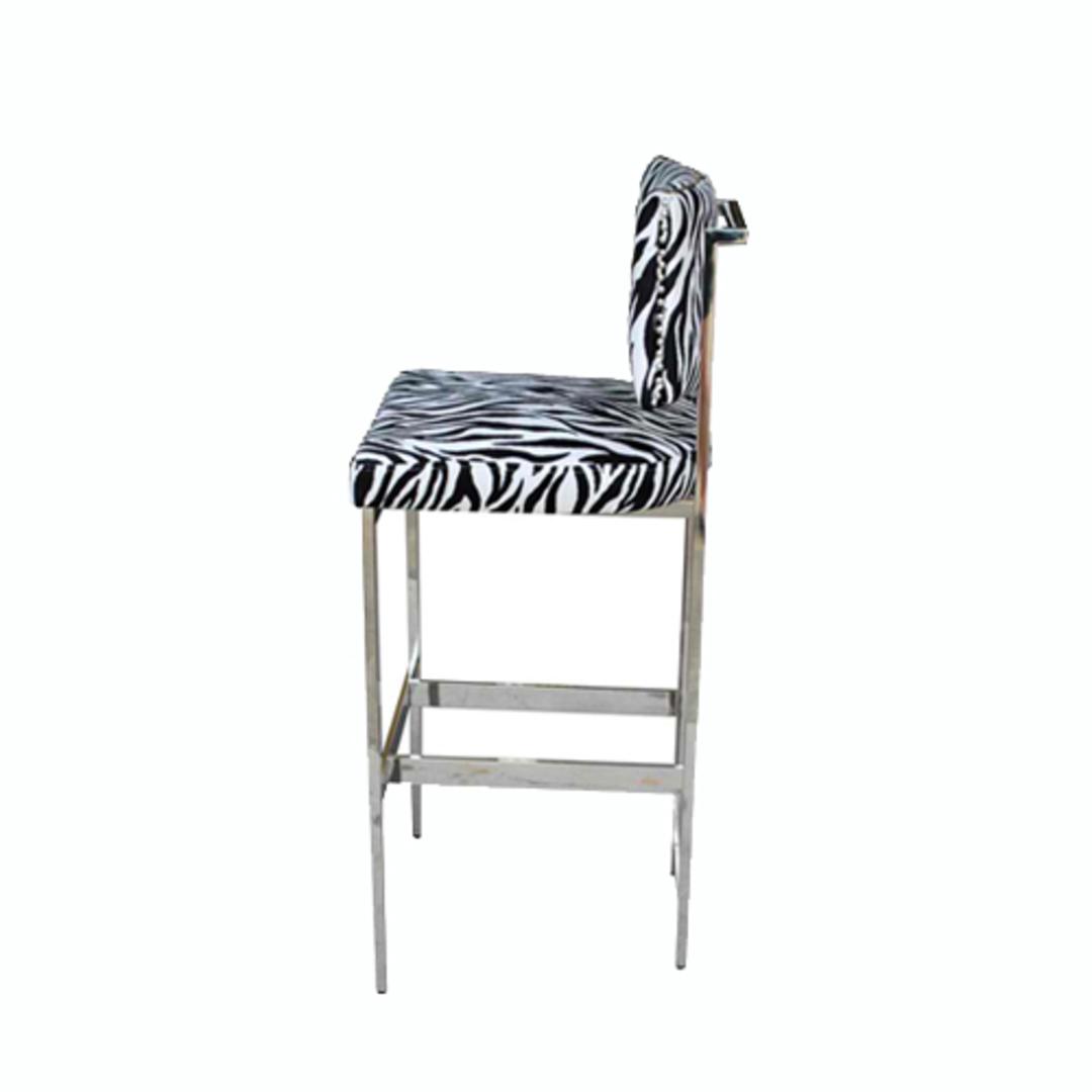 Expedition Barstool With Zebra Fabric image 1