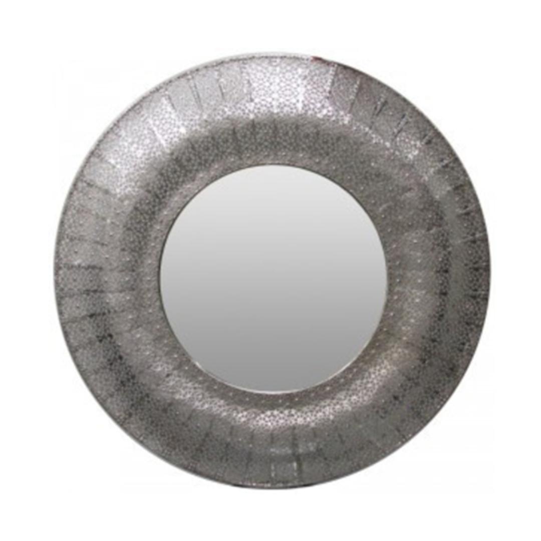 Marrakesh Mirror Round Silver image 0
