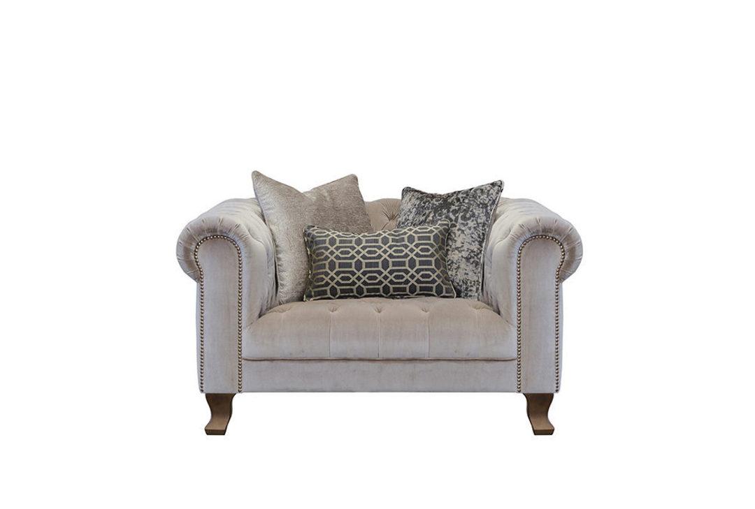 Vivienne Snuggler Chair Dickens Mushroom image 0