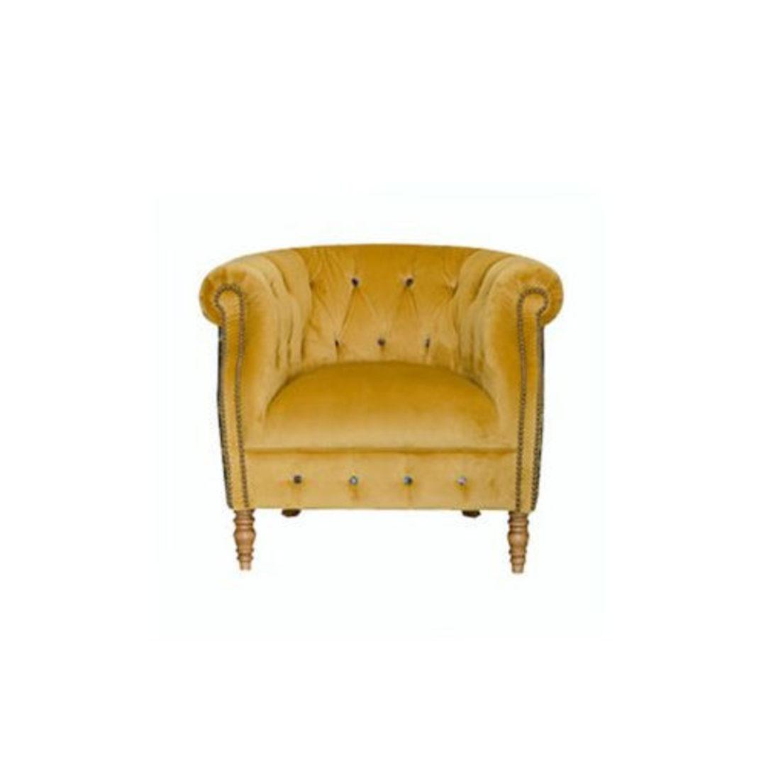 Jude Chair Plush Turmeric - Murala Azure image 0