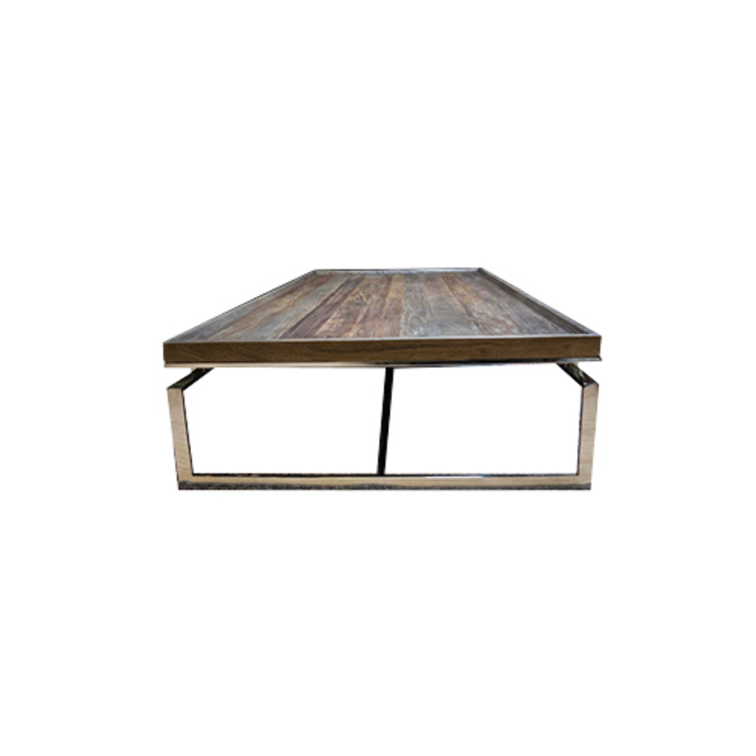 Providence Coffee Table Reclaimed Elm & Stainless Steel image 2
