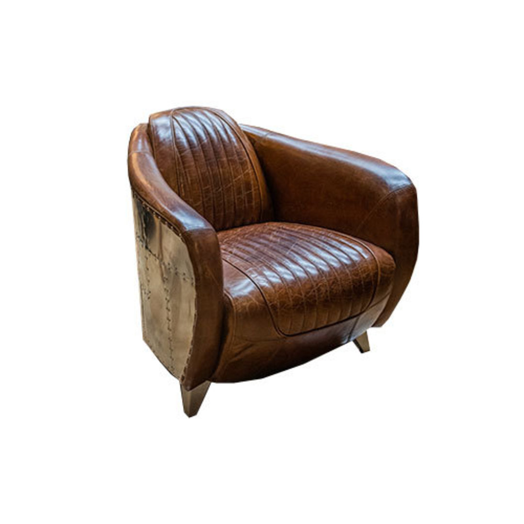 Lancaster Aged Italian Leather Chair image 0