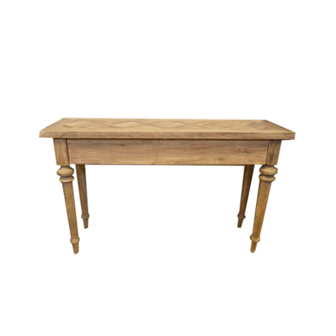 Recycled Elm Console 2 Drawer with Parquet Top image 3
