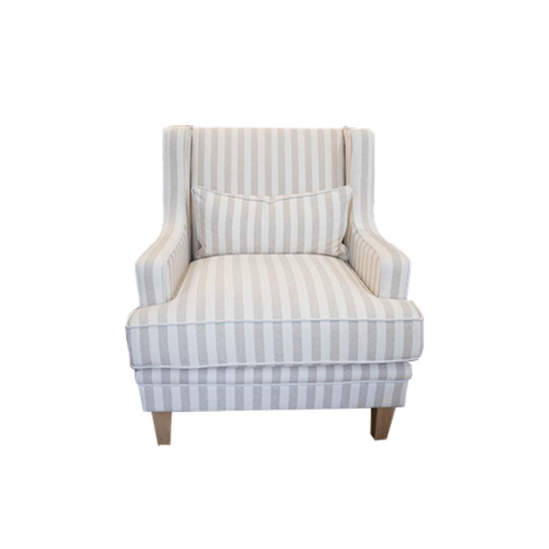 Georgia Arm chair Natural Stripe image 0