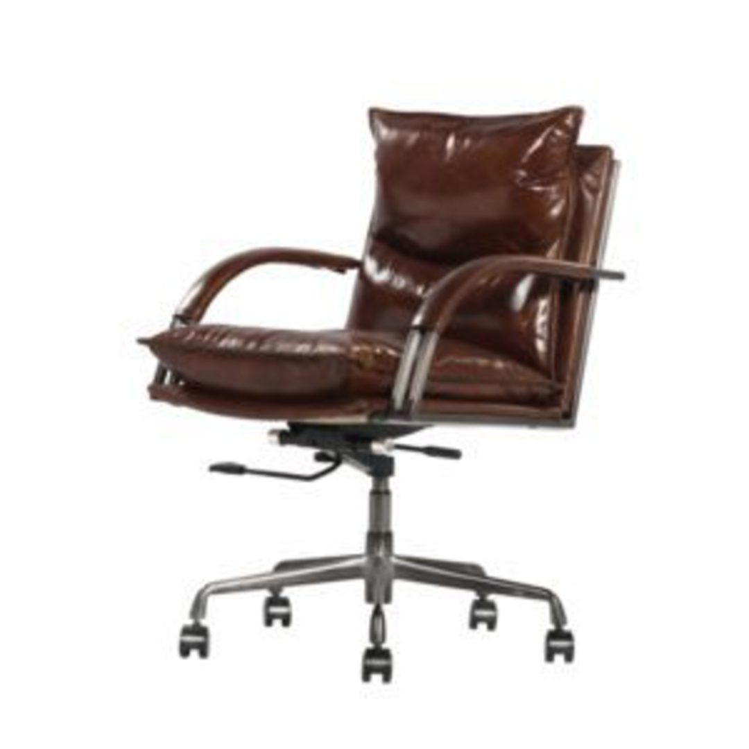 Hereford Vintage Leather Office Chair Height Adjustable image 0