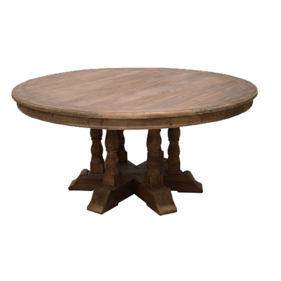 Candace Large Old Pine Round Dining Table image 1