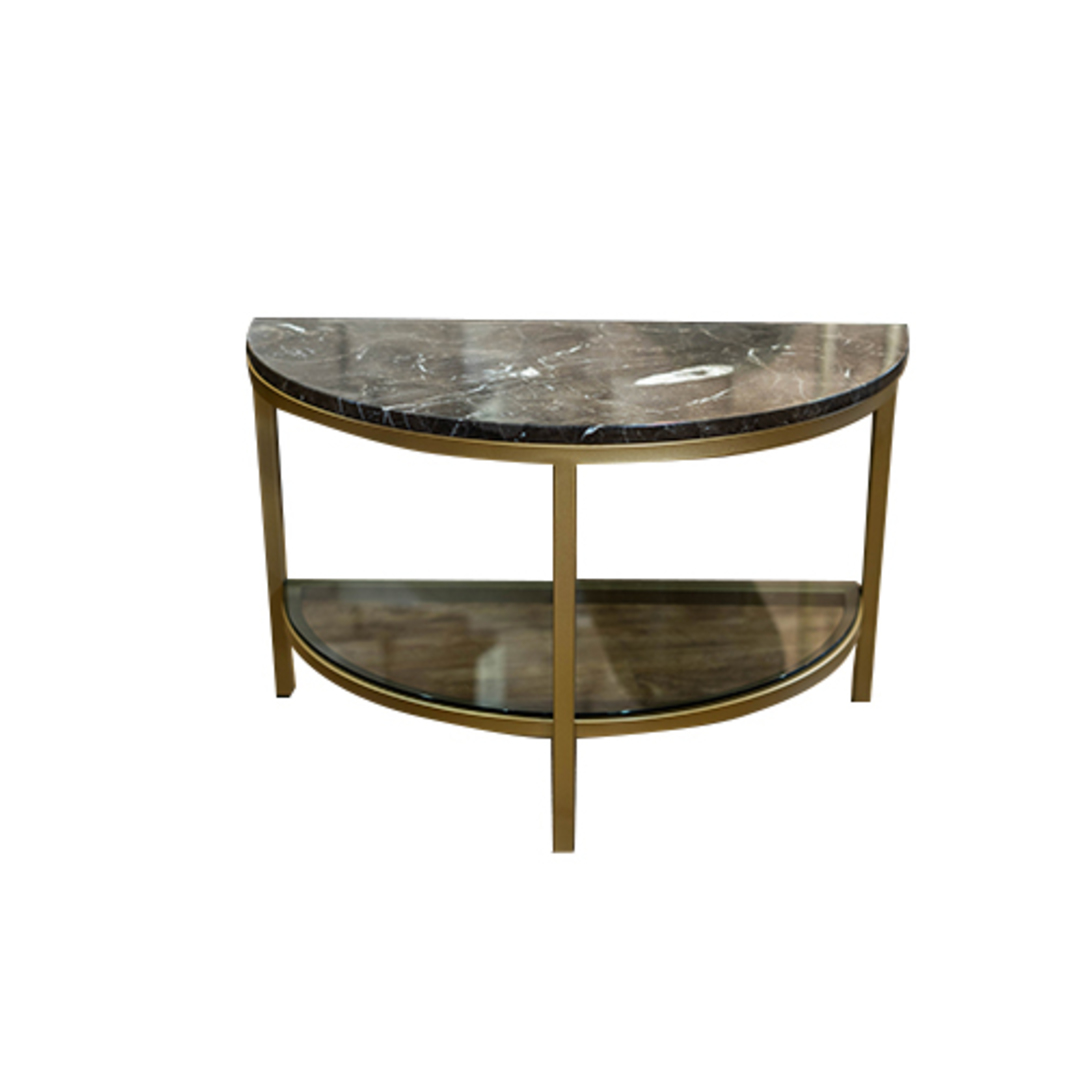 Parkville Arch Brown Marble Table image 0