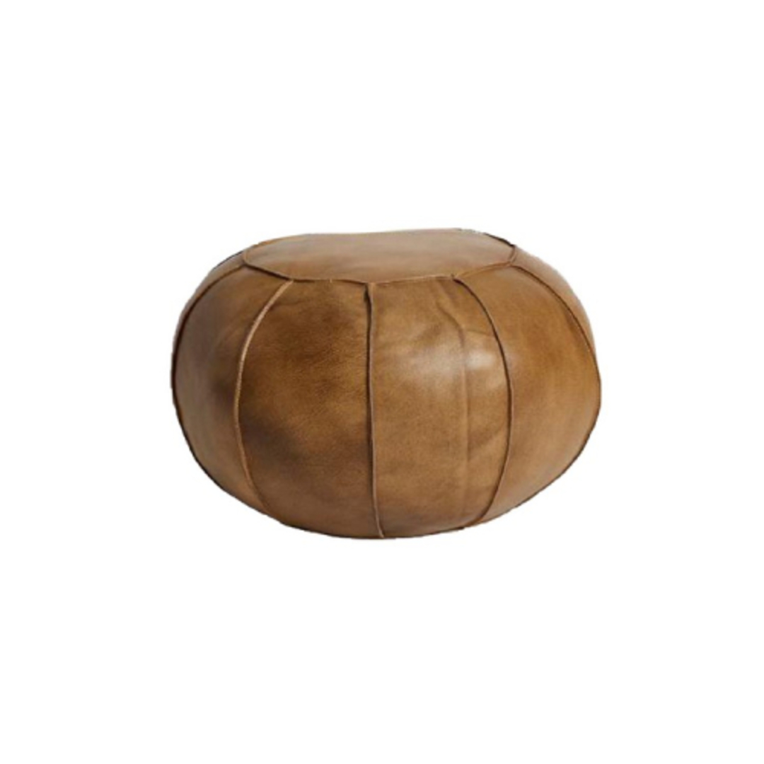 Leather Puff Vintage Brown image 0