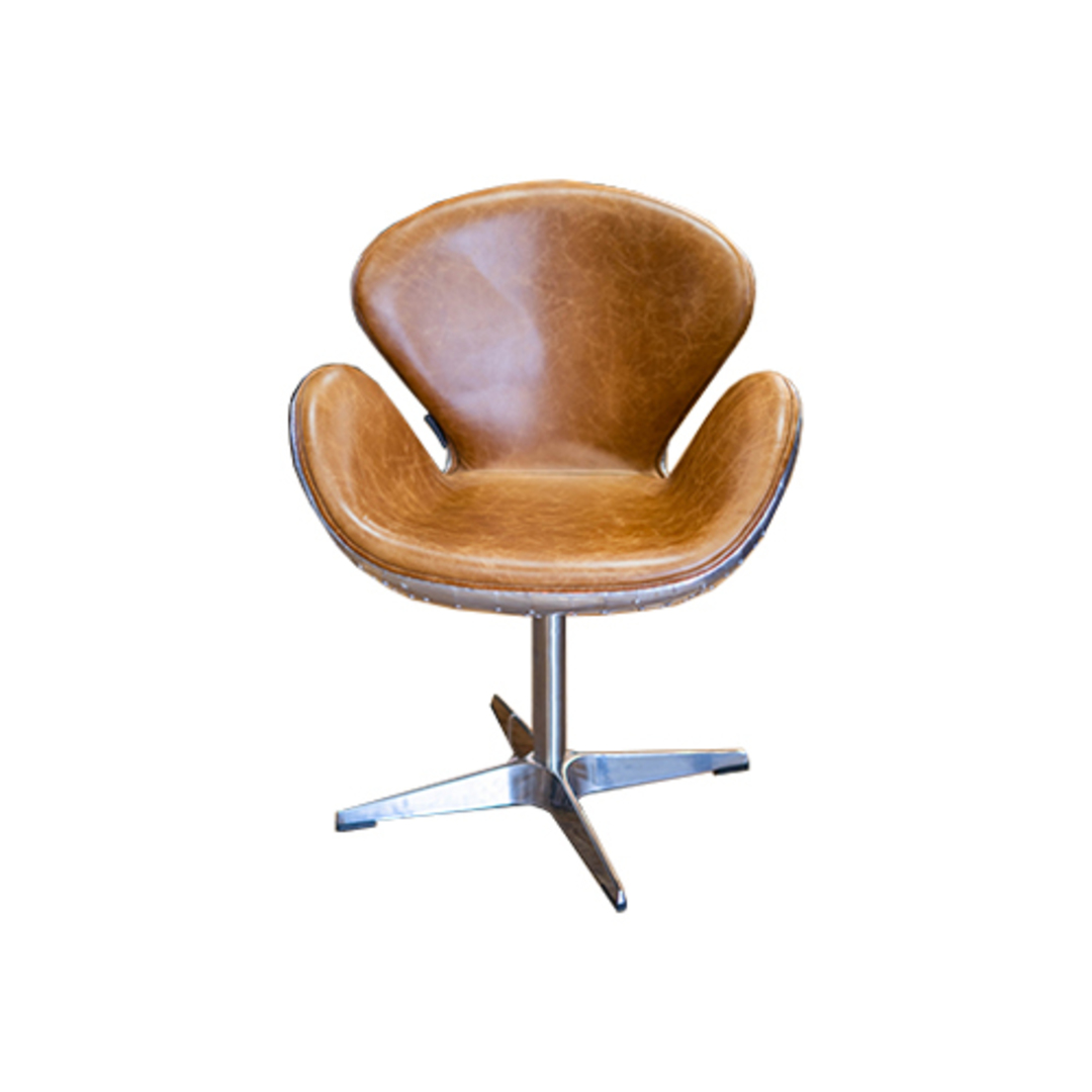 Aviator Swivel Chair Vintage Tan image 1