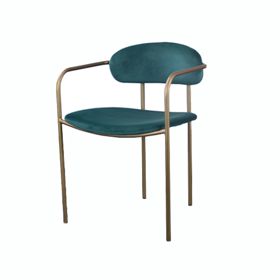 Granada Dining Chair Emerald Velvet image 0