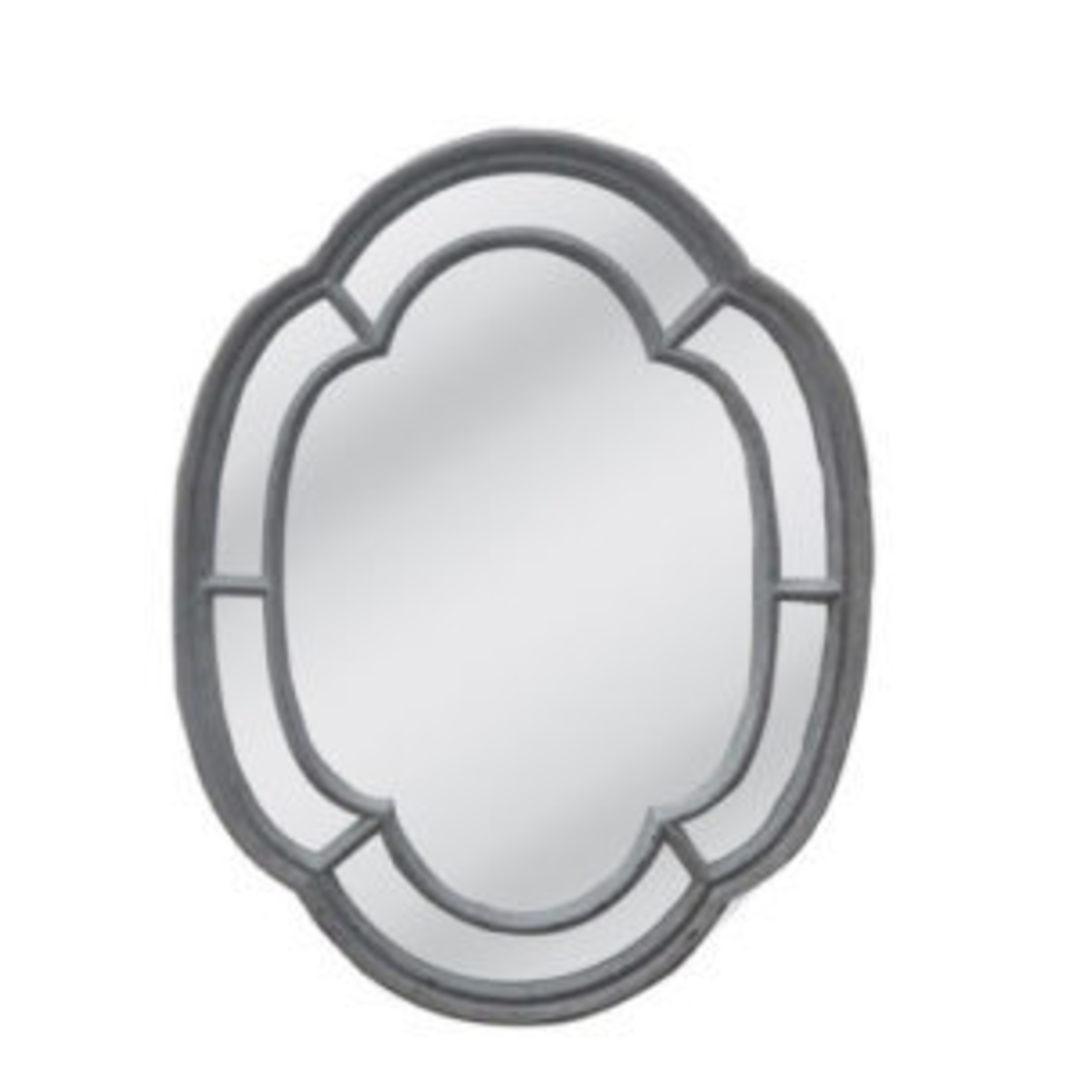 Powder Gray Frame With Flat Mirror image 0