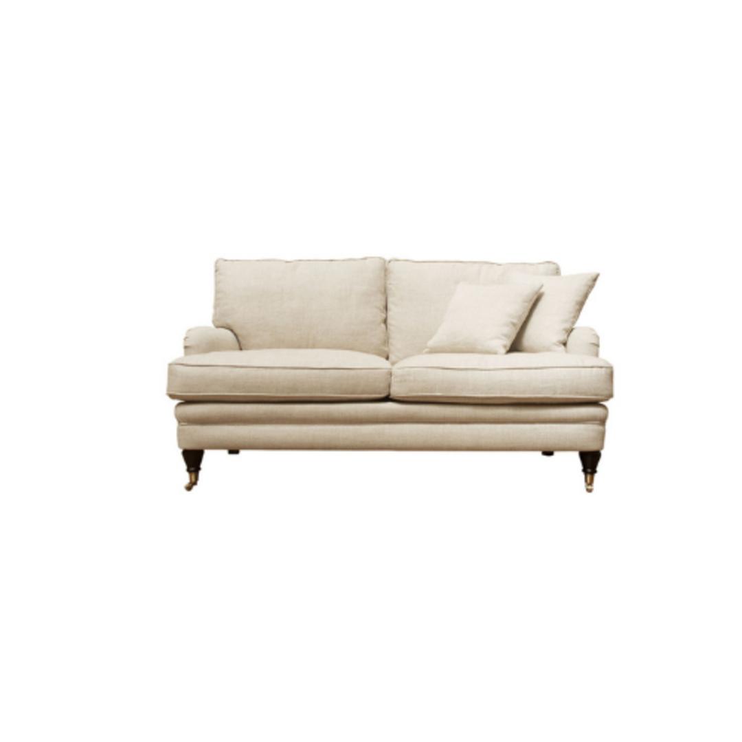 Victoria 2 Seater Sofa Belgium Linen Cream image 0