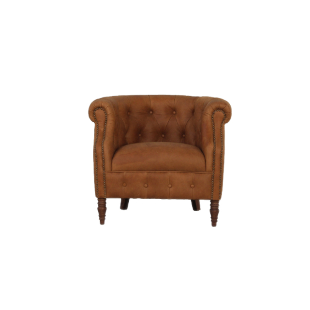 Jude Chair Leather Tan image 0