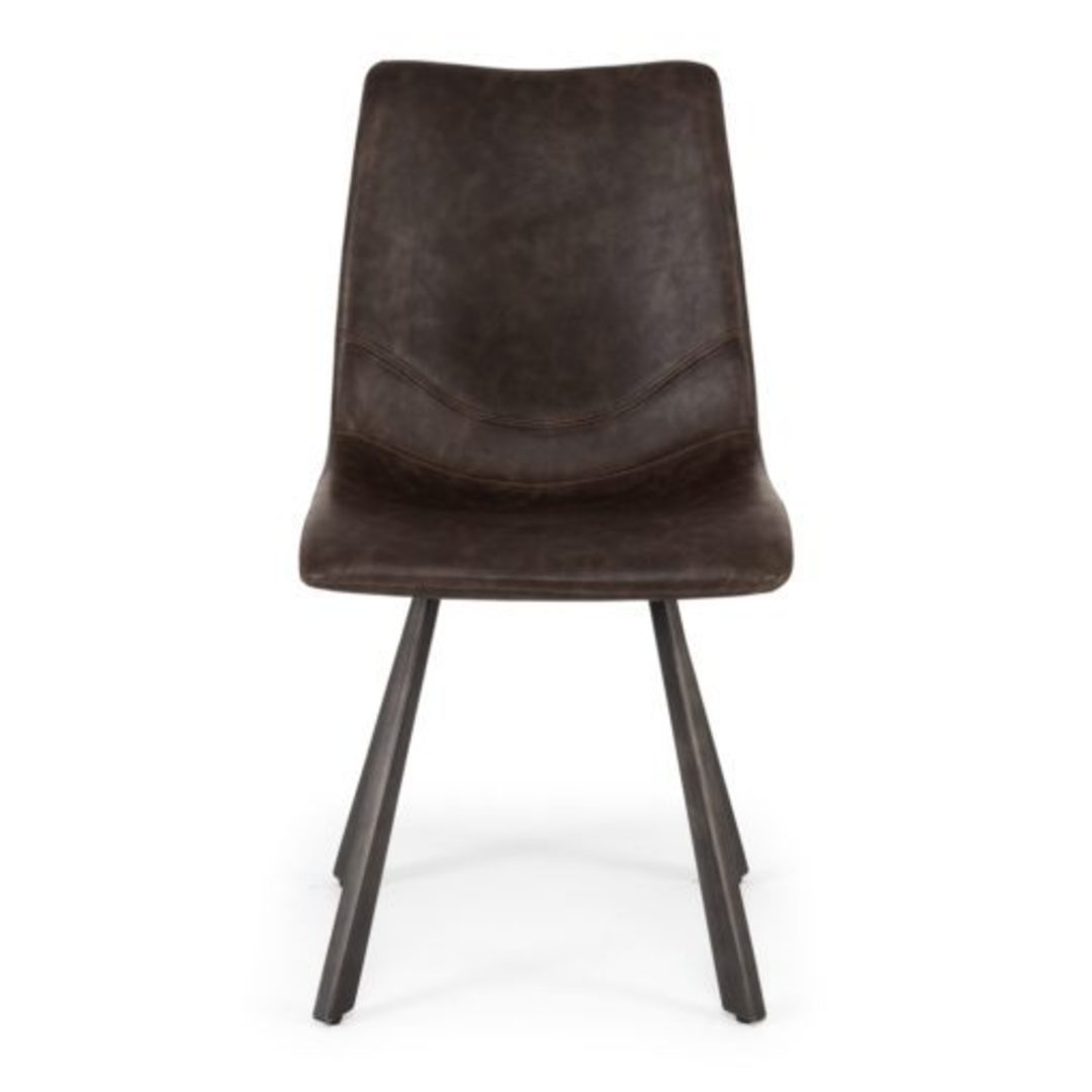 Rustic Chair Vintage Dark Brown image 1