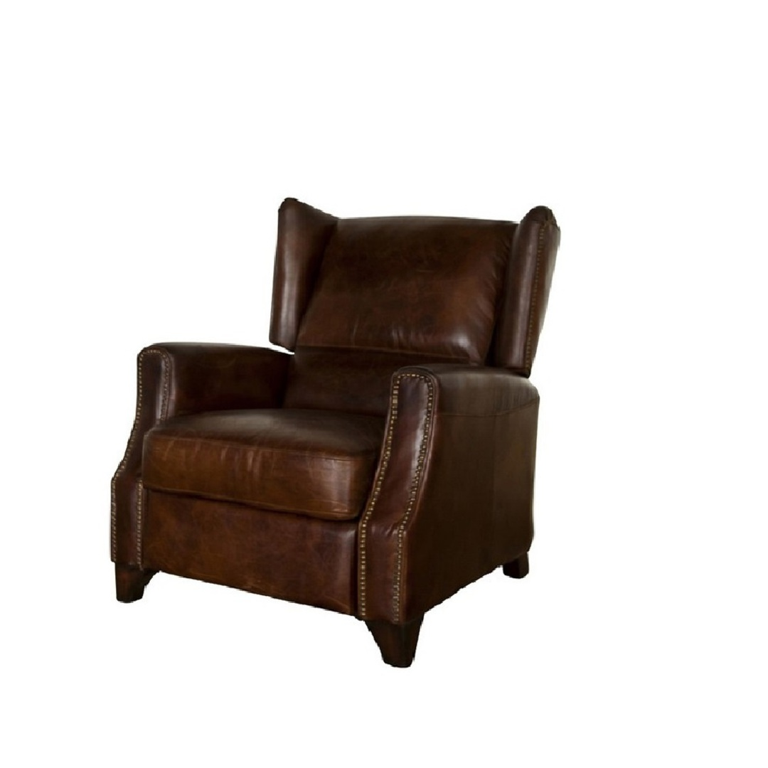 Hastings Aged Italian Leather Chair image 0