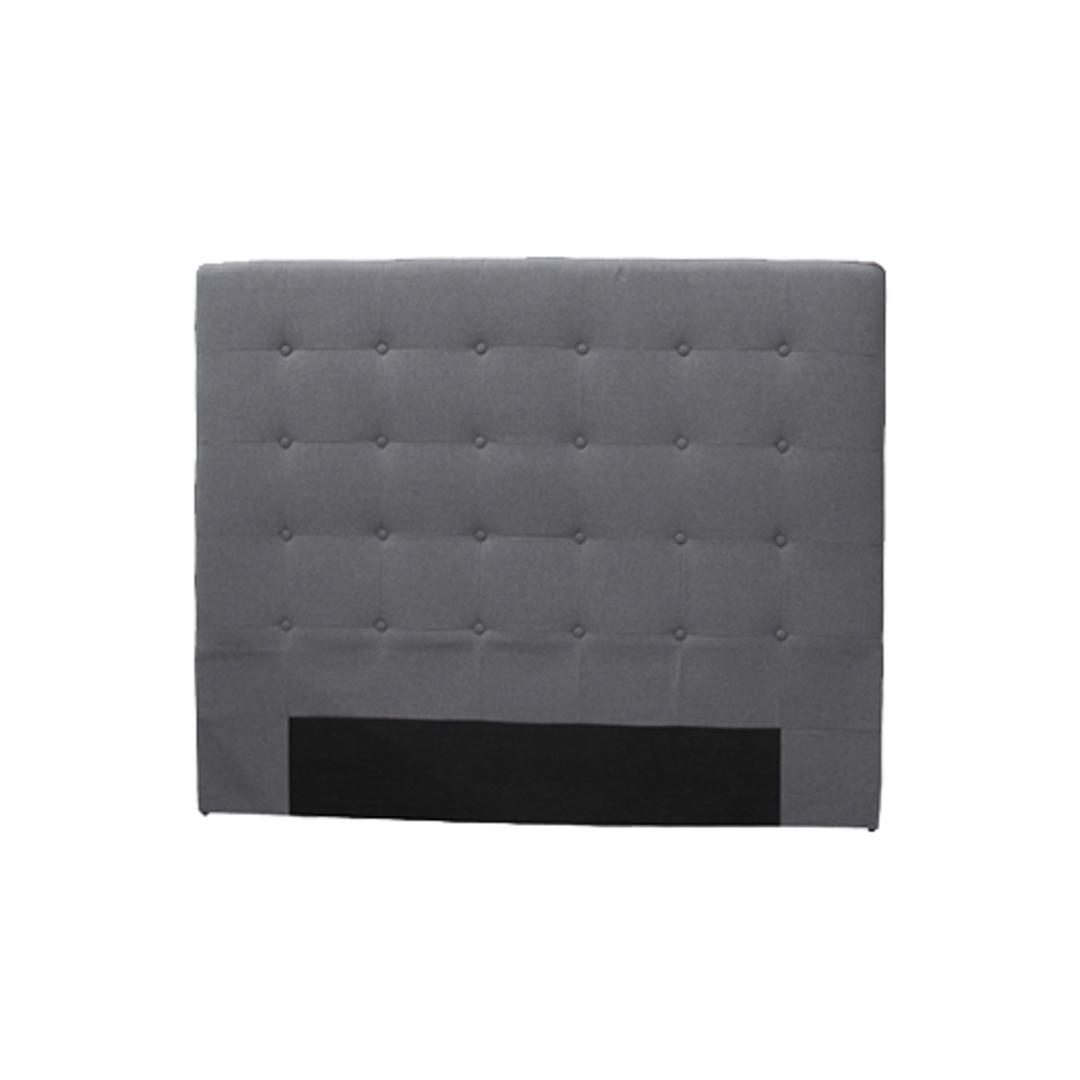 Charly Bedhead  Super King Grey Fabric image 0