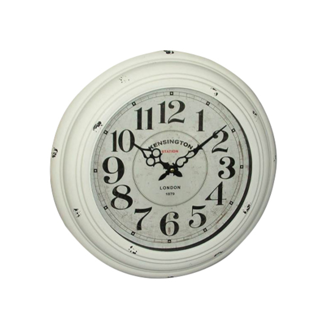 White Kensington Antique Clock image 0