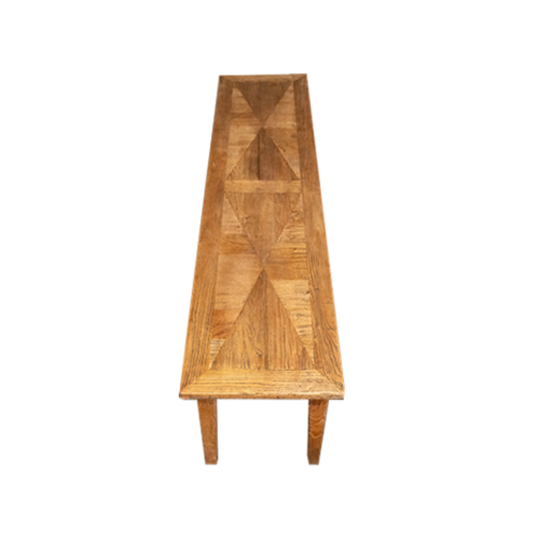 Recycled Elm Parquetry Bench image 3