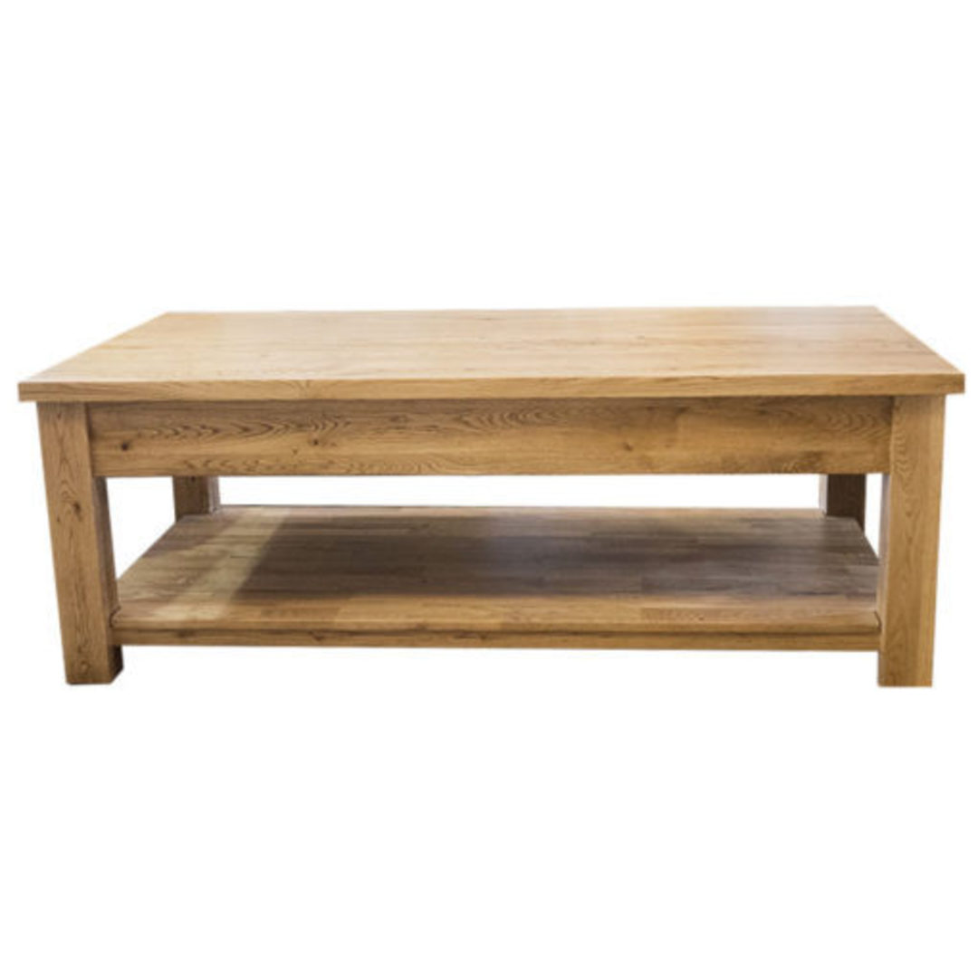 Oak Coffee Table 2 Drawer image 3