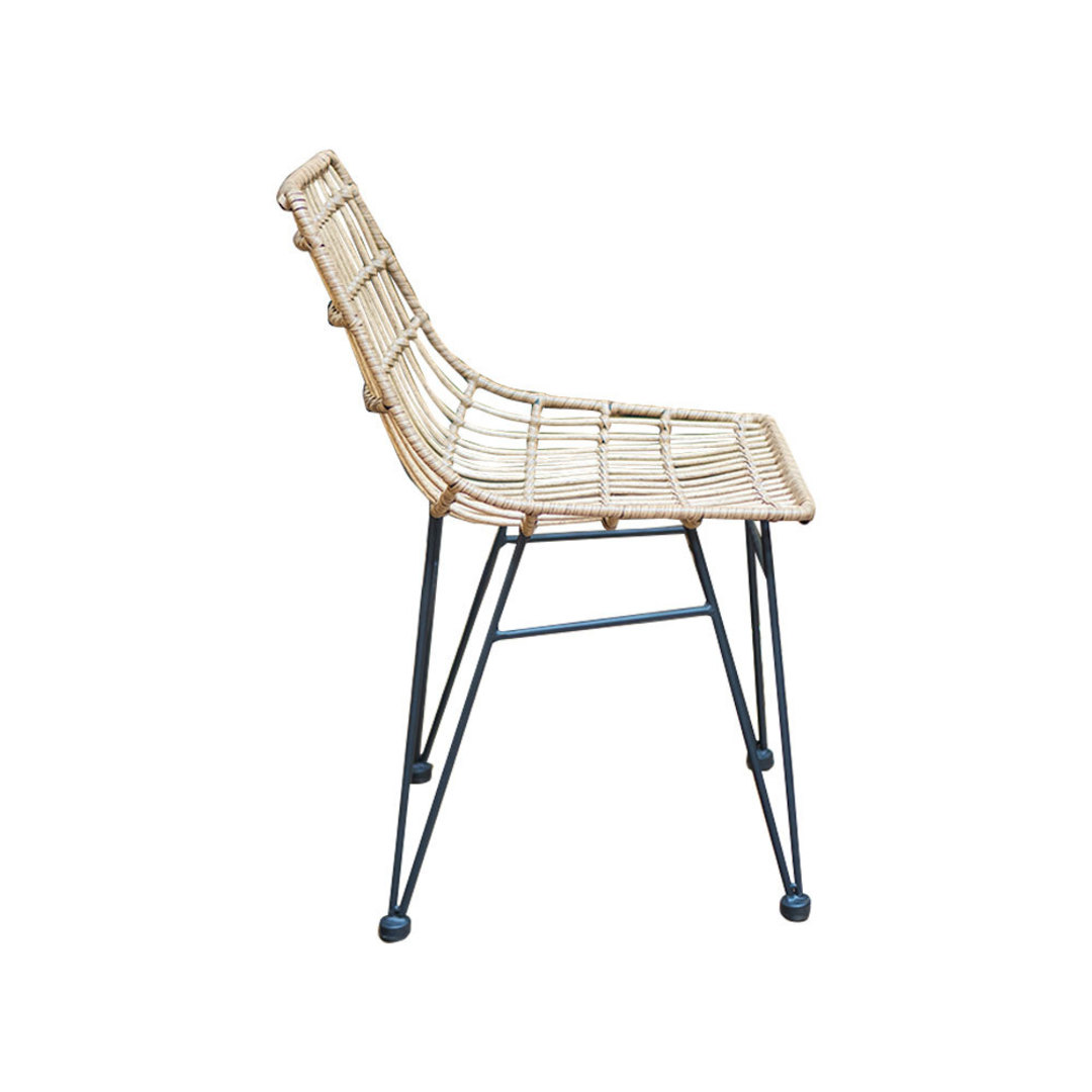 Wicker PE Dining Chair Natural image 1