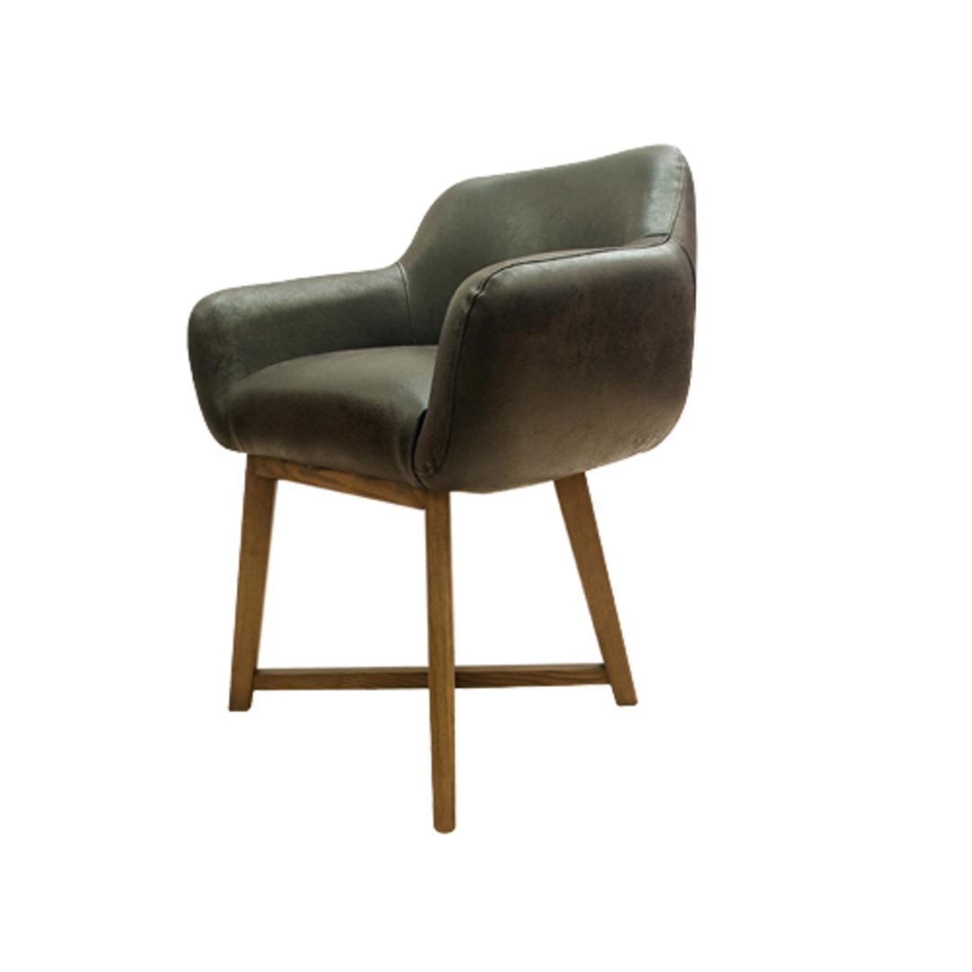 Hugo Dining Chair Tub Dark Brown image 0